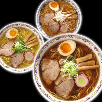 <札幌 二代目萬来軒>醤油・味噌・塩ラーメン