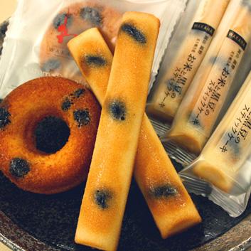 <岡山県・パティスリーWAKANA>岡山県産黒豆使用ドーナッツ&スティックケーキ