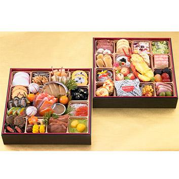 ★日本三大珍味と世界三大珍味が楽しめます!!★<br><大阪・黒門市場>豪華絢爛 二段重