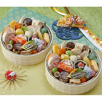 <京菜味のむら>おせち花籠 二段