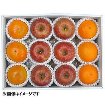 冬のフルーツ3種詰合せ(サンふじ、紅まどんな、富有柿)
