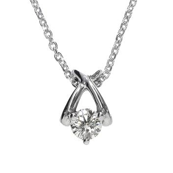 K10WGダイヤモンドペンダント