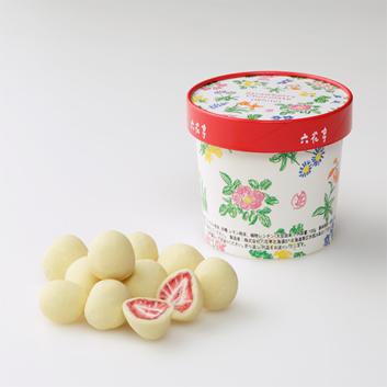 <六花亭>ストロベリーチョコ ホワイト 100g入