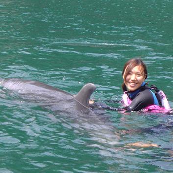 【体験メニュー】<下田海中水族館>ドルフィンスノーケリング ペア体験