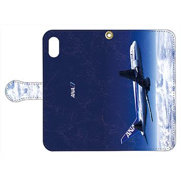 <ANAオリジナル>手帳型スマホケース 767-300ER -機影-