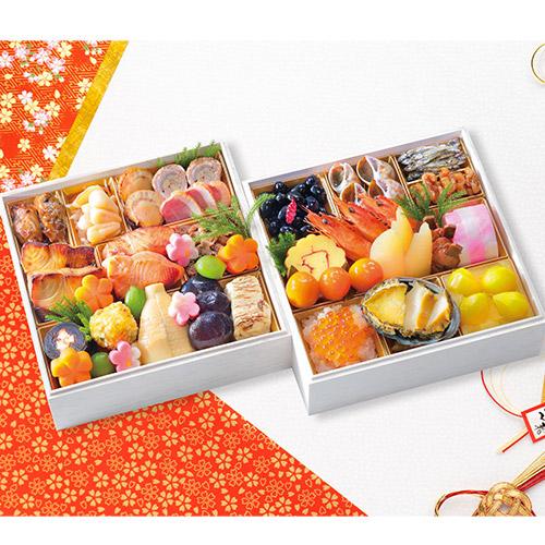 <貝新和菜> 和風おせち二段重「伊勢貝道」
