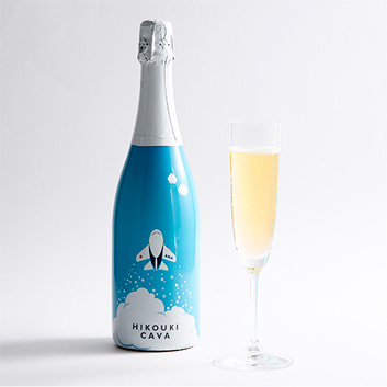 <ANAオリジナル>HIKOUKI CAVA(飛行機カヴァ)青空【2016】(白スパークリングワイン)