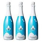 【送料無料】<ANAオリジナル>HIKOUKI CAVA (飛行機カヴァ)青空3本セット【2016】(白スパークリング)