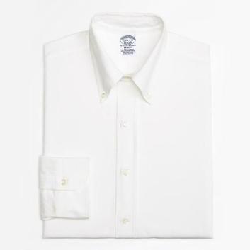 <ブルックス ブラザーズ>スーピマコットン オックスフォード ポロボタンダウン ドレスシャツ Regent Fit ホワイト