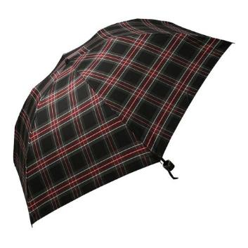 <ジェフ・バンクス>チェック柄折りたたみ傘