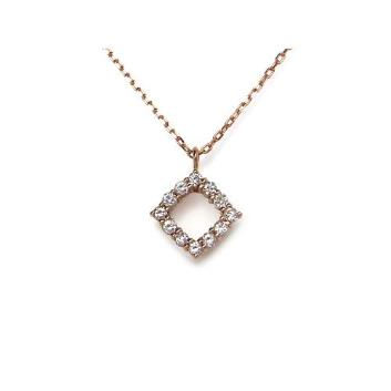<ミワ>K18PGダイヤモンドネックレス