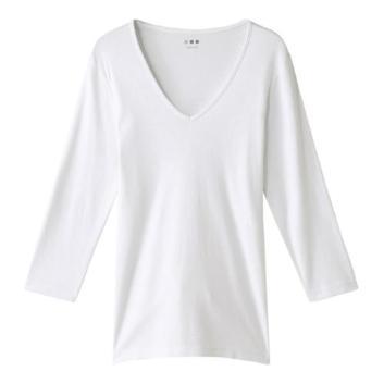 <スリードッツ>Amy Vネック七分袖Tシャツ