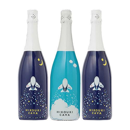 【送料無料】<ANAオリジナル>HIKOUKI CAVA(飛行機カヴァ)青空・星空3本セット