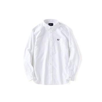 <フレッドペリー>クラシックオックスフォードシャツ/M9546J ホワイト