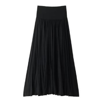 <スリードッツ>ジャージーコレット ロングギャザースカート