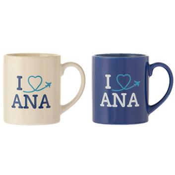 <ANAオリジナル>マグカップ~I LOVE ANA~ 2個セット