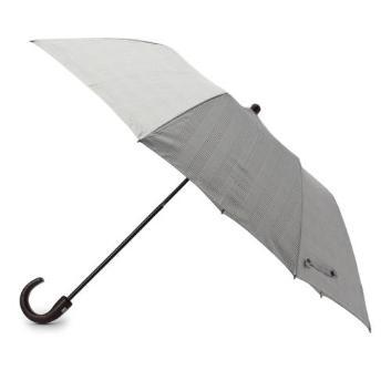 <タケオキクチ>グレンチェック柄折傘