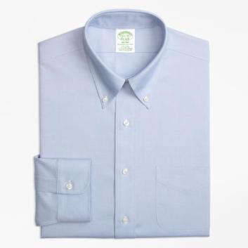 <ブルックス ブラザーズ>ノンアイロン ストレッチ ピンポイントオックスフォード ポロカラーシャツ Milano Fit
