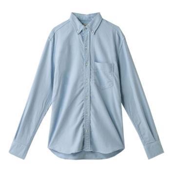 <ヤヌーク>デニットボタンダウンシャツ