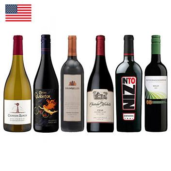 【送料無料】定番!アメリカワイン赤・白6本セット