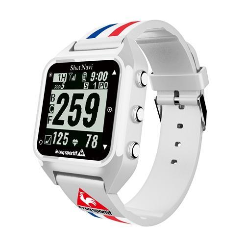 <ShotNavi>心拍・活動量計機能付き GPSゴルフウォッチ HuG le coqモデル