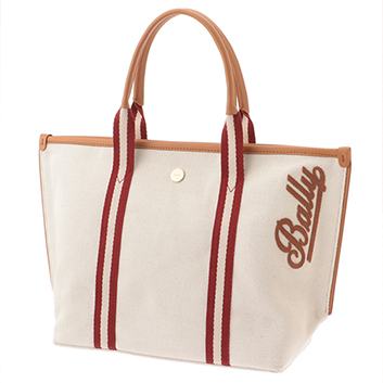 <BALLY>CANVAS TOTE SM トートバッグ