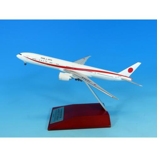 JG40100  1:400 777-300ER N509BJ 次期政府専用機 ダイキャストモデル 木製台座つき