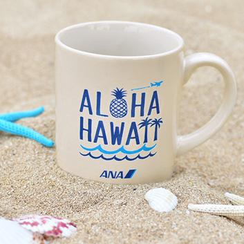 <ANAオリジナル>マグカップ~ALOHA HAWAII~ホワイト