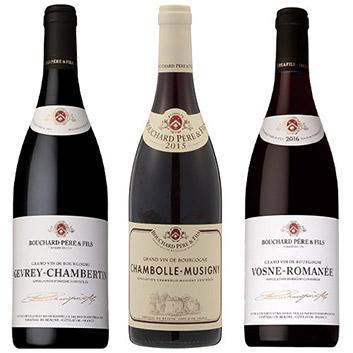 【数量限定プレゼント付】【送料無料】機内ワインが1本入った、ブルゴーニュ銘醸村名赤ワイン3本セット