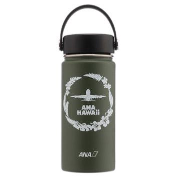 <ANAオリジナル>Hydro Flask ANA HAWAiiボトル&フリップキャップセット オリーブ