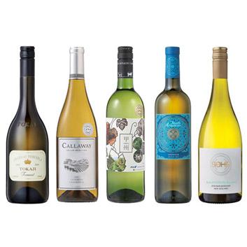 【送料無料】ANAショッピングソムリエが選んだ、白ワイン5本セット(2019)