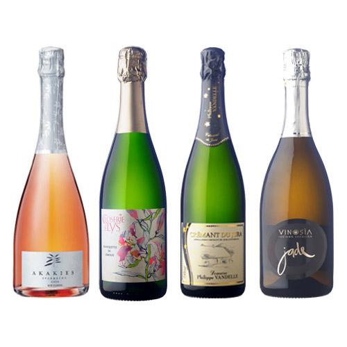 【送料無料】ANAショッピングソムリエが選んだ、スパークリングワイン4本セット(2019)