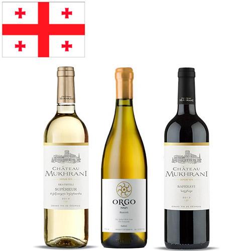 【送料無料】A-styleソムリエが選んだ、現代のジョージア(グルジア)を知るためのワイン3本セット