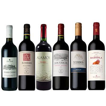 【送料無料】ワールドセレクション赤ワイン6本セット