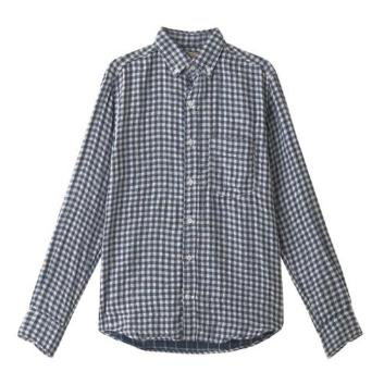 <ヤヌーク>二重織シャツ ギンガムチェック