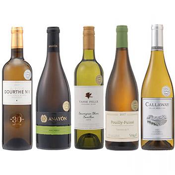 【送料無料】2018年度機内ワイン ファースト・ビジネスクラス白ワイン5本セット