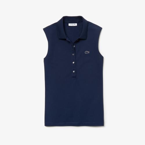 4018506e1d32 ラコステ>スリムフィット ストレッチ ポロシャツ (ノースリーブ ...