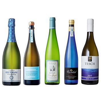 【送料無料】A-styleソムリエが選んだ、見た目も爽やかブルーボトルワイン5本セット