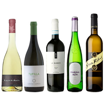 【送料無料】夏に美味しい、海が近い生産地の白ワイン5本セット