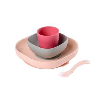 <BEABA>吸盤付きシリコン食器セット