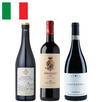 【送料無料】A-styleソムリエが選んだ、イタリアのD.O.C.G.飲み比べセット