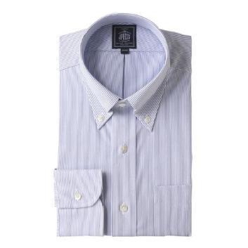 <Jプレス>PLEMIUMPLEATS マイクロストライプ ボタンダウンシャツ