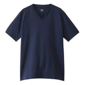 <スリードッツ>パウダリーコットン VネックTシャツ
