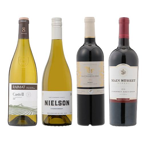 【送料無料】2018年度機内ワイン ファースト・ビジネスクラス赤白ミックス4本セット