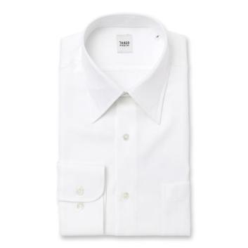 <タケオキクチ>ホワイト×ホワイト ドレスシャツ