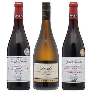【送料無料】機内白ワインが1本入った、ボジョレー・ヌーヴォーセット