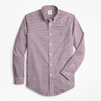 <ブルックス ブラザーズ>ノンアイロン ブルックスクール GF ギンガムチェック スポーツシャツ Regent Fit