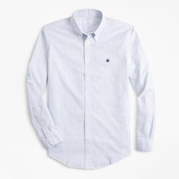 <ブルックス ブラザーズ>ノンアイロン ブルックスクール GF ストライプ スポーツシャツ Regent Fit