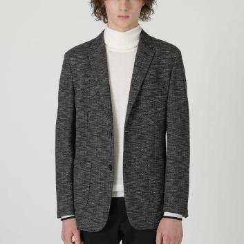 <ブラックレーベル・クレストブリッジ>メランジヘリンボーンジャージージャケット