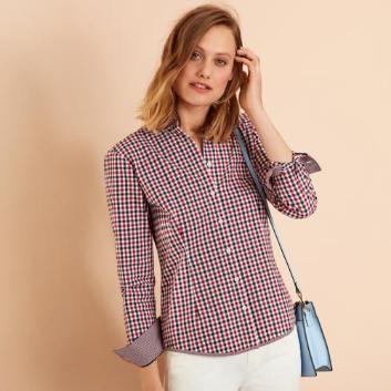 <ブルックス ブラザーズ>Red Fleece コットンツイル カラードギンガムチェック シャツ